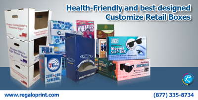 Health-Friendly and best designed Customize Retail Boxes